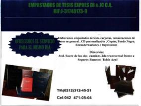 Empastados De Tesis Expres Dj & Jc C.a.