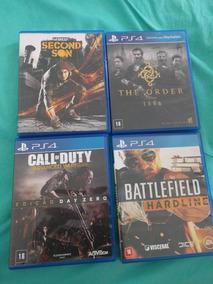 03 Jogos Ps4 Playstation Cod-battlefield Hardline-second Son