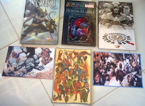 Lote C/ 3 Enc Capa Dura: Loki + Homem Aranha + Vingadores