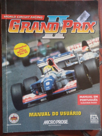 Grand Prix 2 = Manual Do Jogo Em Portugues = Ms Dos E Win 95