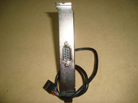 Conector Rabicho Espelho Porta Serial Db9 Macho