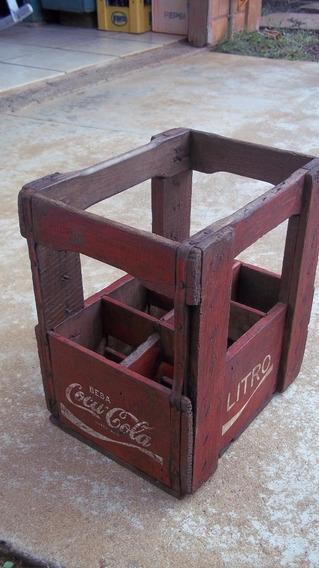 Caixa De Madeira Da Coca Cola Litro Original