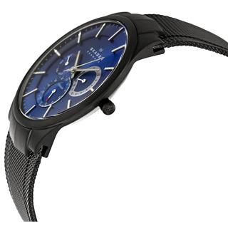 Reloj Cronógrafo Skagen 809xltbn Para Hombre Esfera Azul