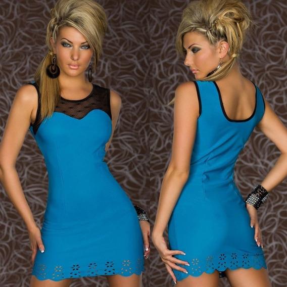 Vestido Lycra Spandex Con Transparencias, Labrado T: M