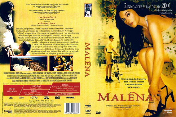 Dvd Lacrado Malena Monica Bellucci Filme De Giuseppe Tomator