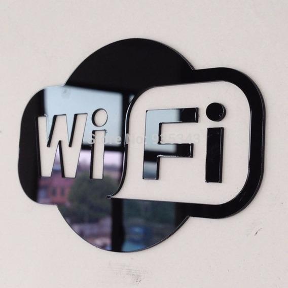 Acrílico Decorativo Wifi Bar Restaurante Comércio