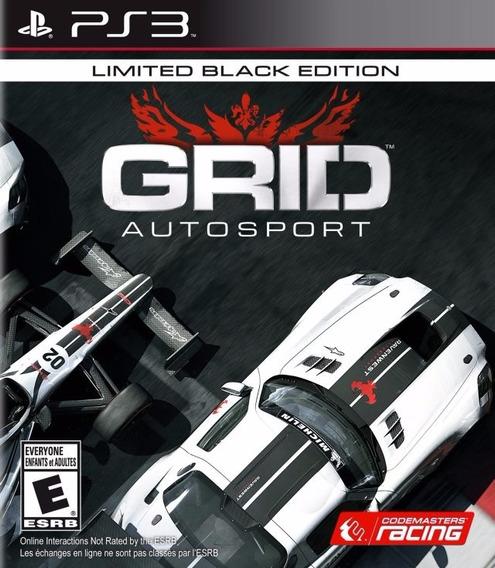 Jogo Grid Autosport Black Edition Playstation 3 Ps3 Portuguê