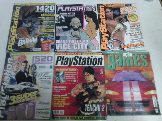 Lote De 6 Revistas Games Jogos