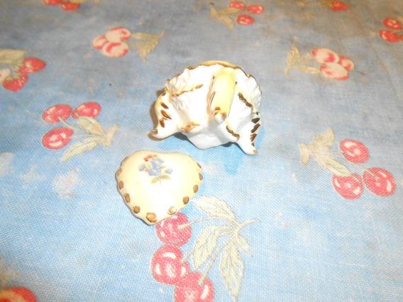 Porta Jóia Antigo Miniatura Porcelana Muito Delicado