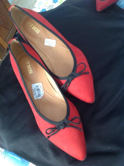 Sapato Vermelho Com Salto Anabela Onçinha Spot Shoes
