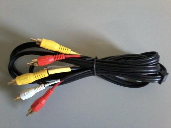 Cabo Rca Av Estéreo-cabletech Conexão Banhada 1,80cm/ Audio