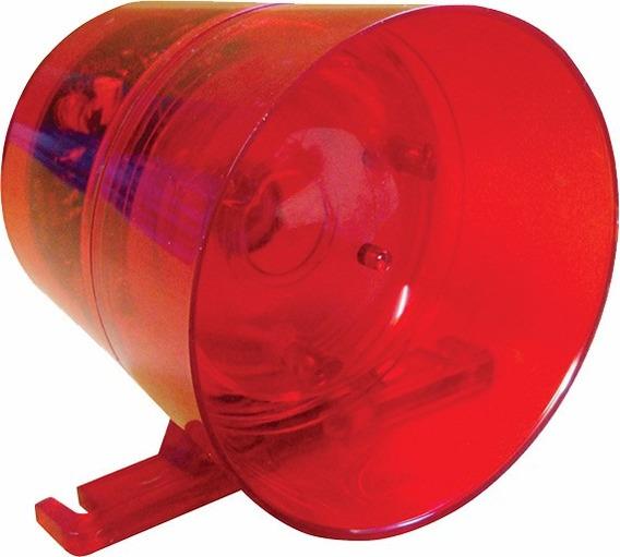 Sirene Para Alarmes Audiovisual 12v Com Luz Vermelha Potente