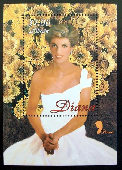 Liberia, Bloque Princesa Diana Flores 1 Sello Mint L5631
