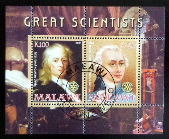 Malawi Person., Bloque 2 Sellos Científicos 2008 Usado L7102