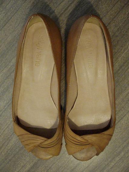 Zapatos Sibyl Vane - Punta Abierta - Color Miel - Nro.37