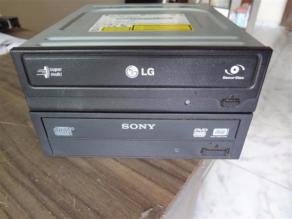 Lote Com 2 Gravadores De Cd E/ou Dvd Sata Com Defeito