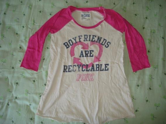 Camiseta Pink Victoria Secret Talla M Seminueva Mla¡¡¡¡¡