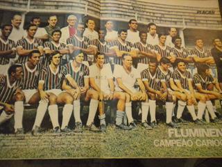 Revista Placar Com Poster Fluminense América São Paulo 1971