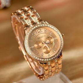Relógio Double Diamond Genebra Importado Magnifico