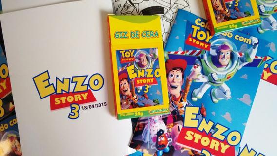 20 Livrinhos Personalizados+ Giz De Cera R$ 3,40 Cada