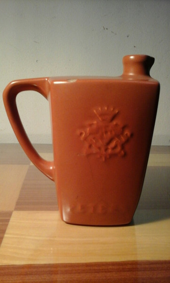 Antigua Botella Whiskey Old Valley Peters / Ceramica 18 Cm.
