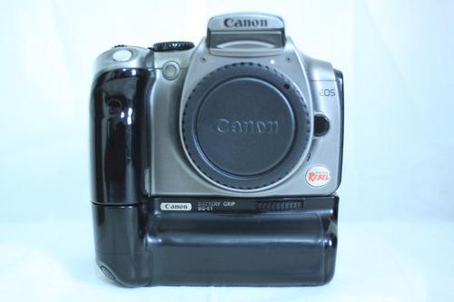 Câmera Canon Xt Com Grip, Cartão De Memória E Bateria