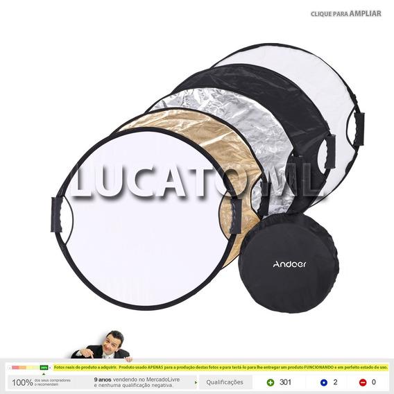 Rebatedor /difusor Andoer Circular De 60cm 5x1 Com Bolsa  ap