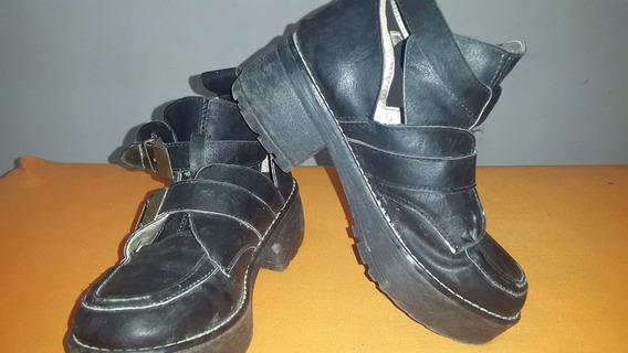 Zapatos Borcegos Abiertos De Nena