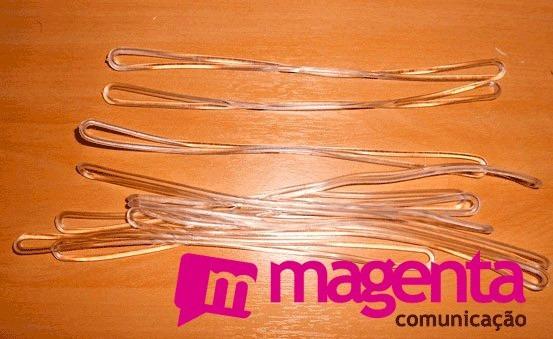 Cordão Transparente / Alça Tag Bagagem Silicone (100 Unid)