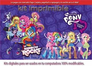 Kit Imprimible My Little Pony Equestria Girls Rainbow Rocks