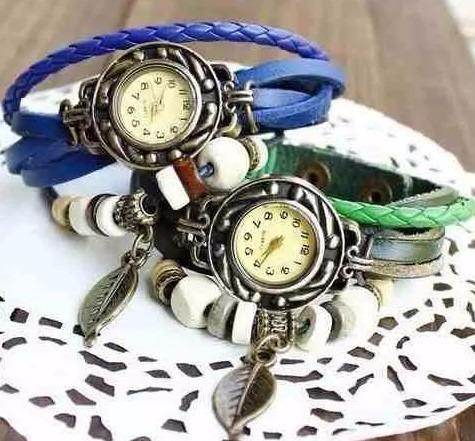 Relógio De Pulso Feminino Vintage Couro Várias Cores Moda