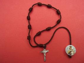 8ef874486dd5 Pulsera Decenario Con Imagen De La Virgen Del Carmen Y Cruz