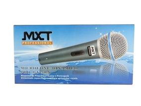 Microfone Profissional Dinâmico Mxt Bt58 Cachimbo Cabo Bolsa