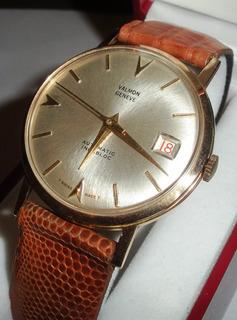 Reloj Hombre Oro 18k Macizo Calendario Suizo Original Regalo