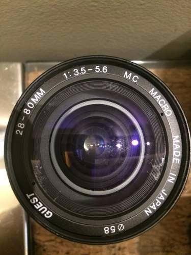 Lentes Guest Cosina 28 80mm/f3.5-5.6mc