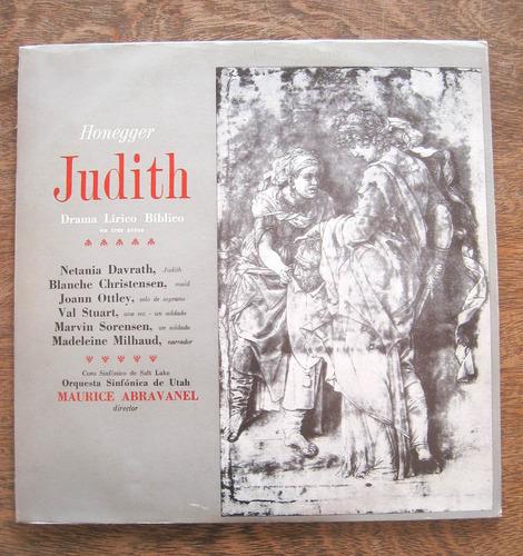 Judith - Honegger - Vinilo Lp Nacional