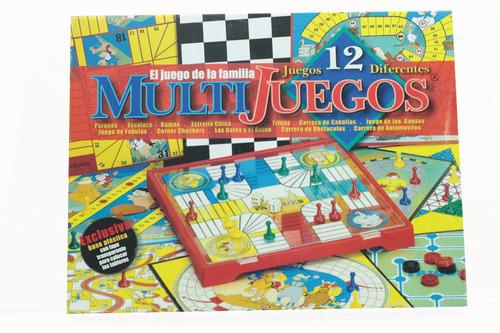 Imagen 1 de 3 de Juego Mesa Multijuegos 12 Parques  Escalera