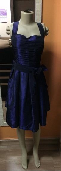Vestido De Tafetá De Seda G