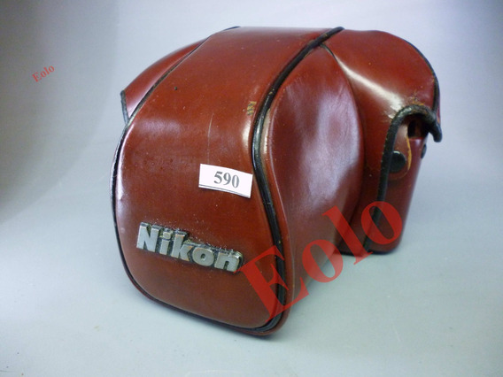 Nikon F3 E F3 Hp - Estojo Cf-22 De Couro - Lindo !