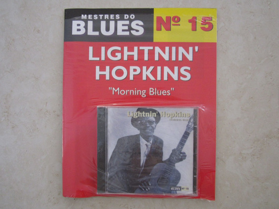 Cd Com Revista Mestres Do Blues Lightnin Hopkins Lacrado