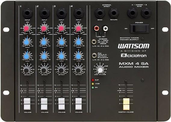 Mesa De Som Ciclotron Mxm 4 Sa Wattsom 4 Canais - Loja !
