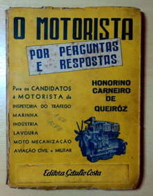 O Motorista - Livro Antigo - 1945