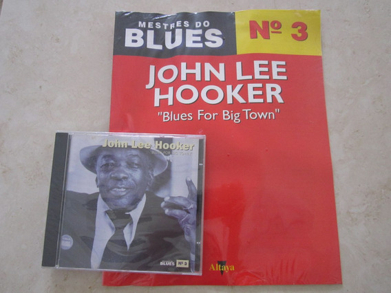 Cd Com Revista Mestres Do Blues John Lee Hooker Lacrado