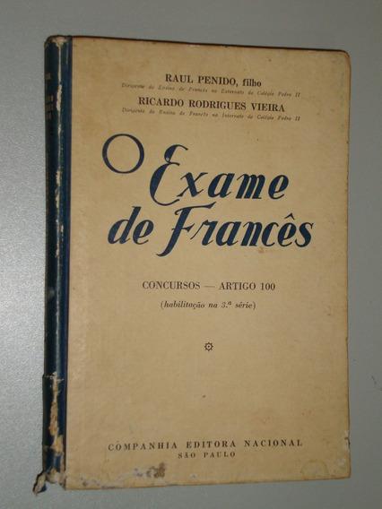 Livro O Exame De Francês - Penido Filho E Vieira