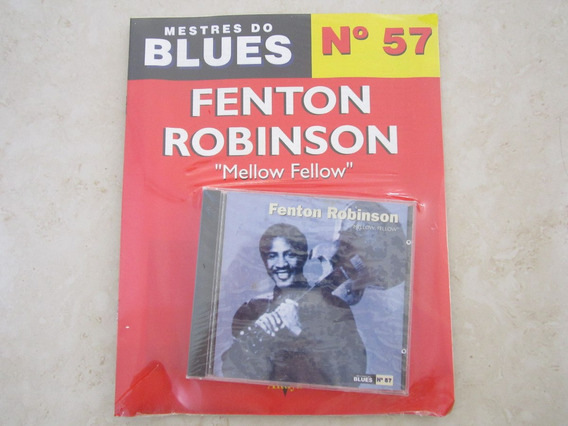 Cd Com Revista Mestres Do Blues Fenton Robinson Lacrado