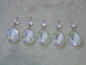 5 Pingentes De Vidro Para Lustres