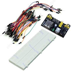 Kit Protoboard Mb102 - Adaptador P/fonte 3.3v 5v E 65 Fios
