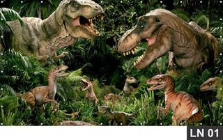 Dinossauro Jurassic Park 4,00x2,40m Lona Banner Aniversário