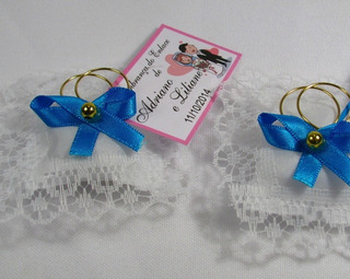 Almofadinha Lembrancinha Casamento Azul Turquesa Kit 100 Und