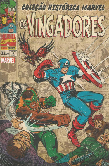 Colecao Historica Marvel Vingadores 6 Bonellihq Cx27 C19